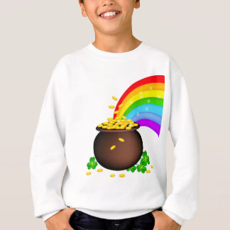 St patricks day coin pot with rainbow sweatshirt