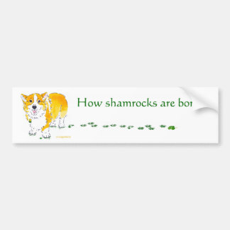 St Patrick's Day Corgi Bumper Sticker