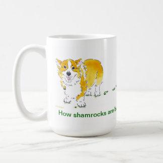 St Patrick's Day Corgi Mug