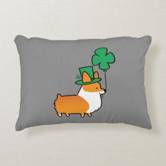 St Patricks Day Corgi Pillow