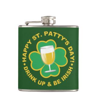 St. Patrick's Day custom name flask
