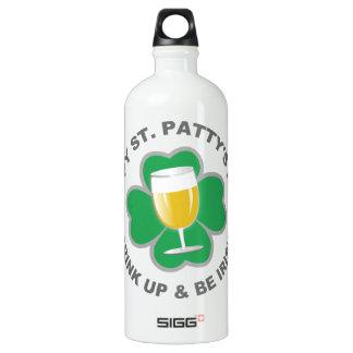 St. Patrick's Day custom name travel bottles