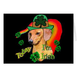 St. Patrick's Day Dachshund Card