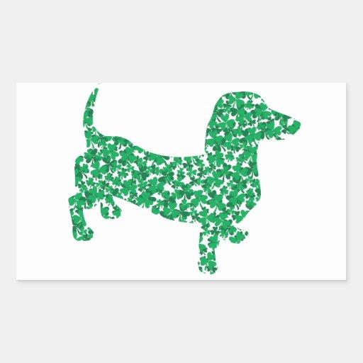 St. Patrick's Day Dachshund Rectangular Stickers