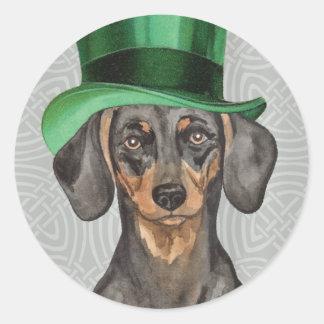 St. Patrick's Day Dachshund Sticker