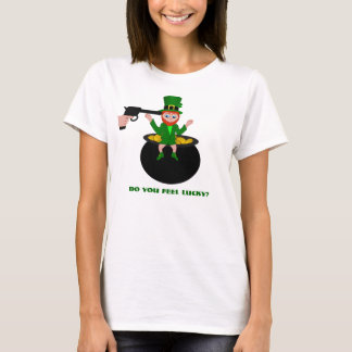 St Patrick's Day Do You Feel Lucky Womens T-Shirt