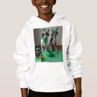 St. Patrick's Day Dogs Party Kids Hoodie