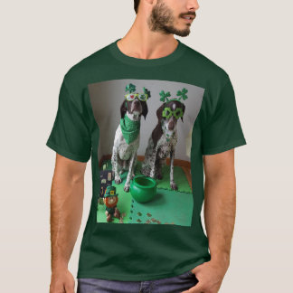 St. Patrick's Day Dogs Ready to Party Dark T-Shirt