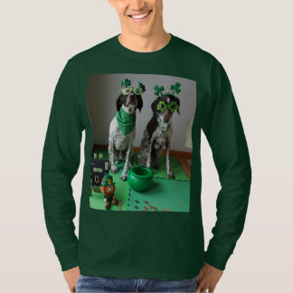 St. Patrick's Day Dogs Ready to Party Long Sleeve T-Shirt