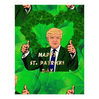 st patricks day donald trump letterhead