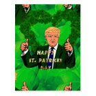 st patricks day donald trump postcard