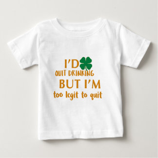 St Patrick's day drinking design Baby T-Shirt