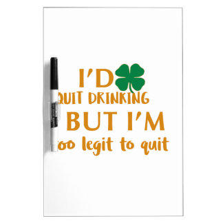 St Patrick's day drinking design Dry Erase Board