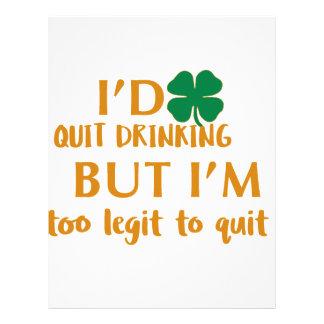 St Patrick's day drinking design Letterhead