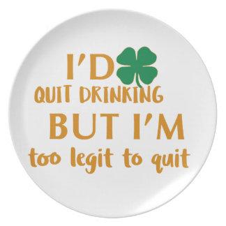 St Patrick's day drinking design Plates