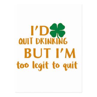 St Patrick's day drinking design Postcard
