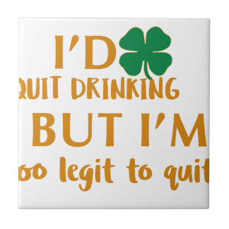 St Patrick's day drinking design Tile