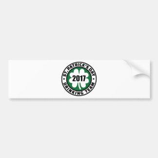 St. Patricks day drinking team 2017 Bumper Sticker