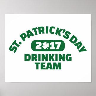 St. Patricks day drinking team 2017 Poster