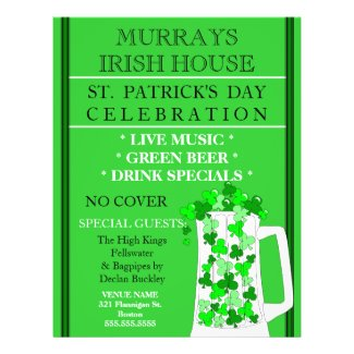 St. Patrick's Day Event Celebration Flyer