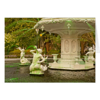 St Patrick's Day - Forsyth Fountain, Savannah, GA Card
