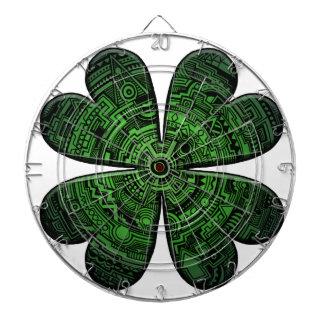 St. Patrick's Day Four Leaf Clover/Shamrock Celtic Dartboard With Darts