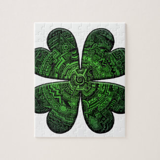 St. Patrick's Day Four Leaf Clover/Shamrock Celtic Jigsaw Puzzle