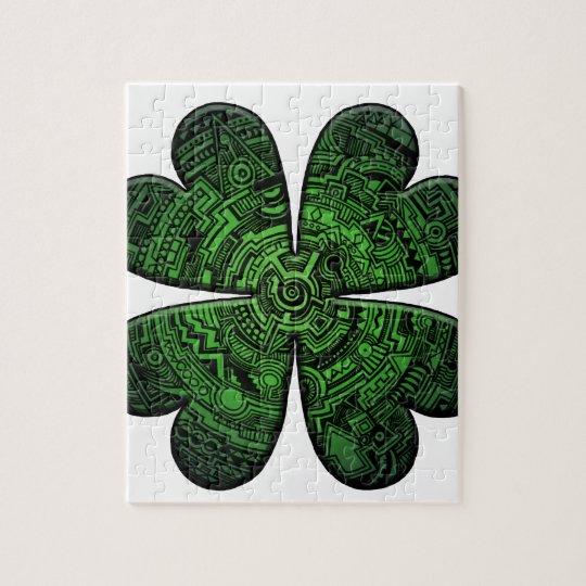 St. Patrick's Day Four Leaf Clover/Shamrock Celtic Jigsaw Puzzle