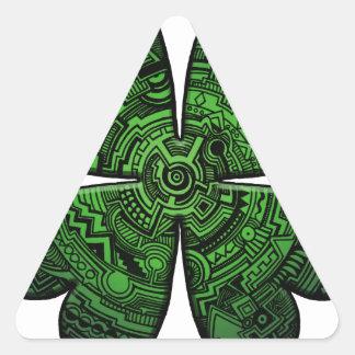 St. Patrick's Day Four Leaf Clover/Shamrock Celtic Triangle Sticker