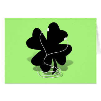St. Patrick's Day Four Leave Clover - iRish Clover Card