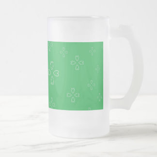 St. Patrick's Day Frosted 16 oz Frosted Glass Mug