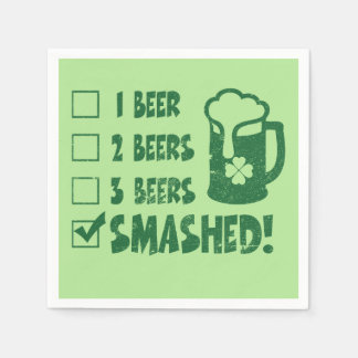 St Patrick's Day Funny Beer Drinking Paper Napkin