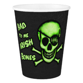 St. Patrick's Day Funny Irish Skull Paper Cups Paper Cup