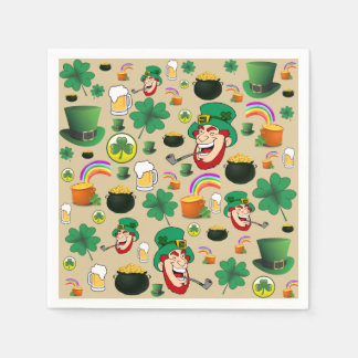 St. Patrick's Day Funtime Cocktail Napkins