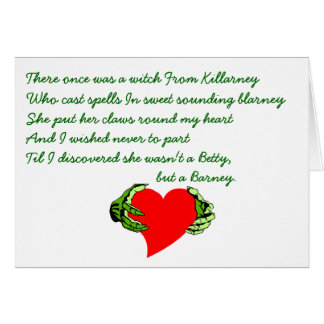 St Patrick's Day Gaelic Claddagh & CRC Limerick Note Card