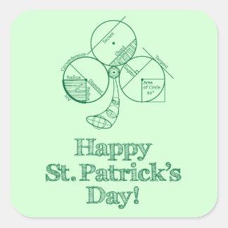 St. Patrick's Day Geometry Square Sticker