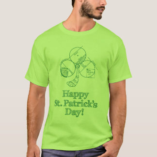 St Patrick's Day Geometry T-Shirt