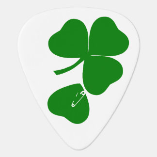St Patrick's Day - Get Lucky 3+1 = 4 Guitar Pick