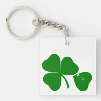 St Patrick's Day - Get Lucky 3+1 = 4 Monogram Acrylic Keychains