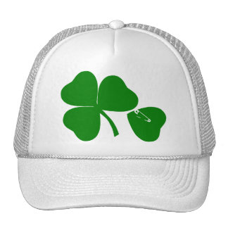 St Patrick's Day - Get Lucky 3 + 1 leaves = 4 Trucker Hat