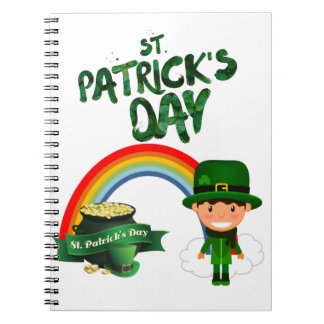 St Patrick's Day gifts Notebook