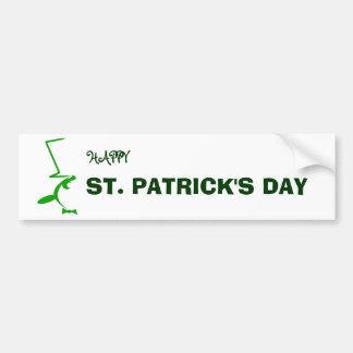 St. Patrick's Day Gifts : Penguin Bumper Sticker
