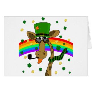 St. Patricks day giraffe Card