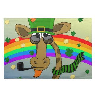 St. Patricks day - Giraffe Placemat