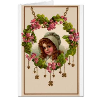 St. Patricks Day Girl Card