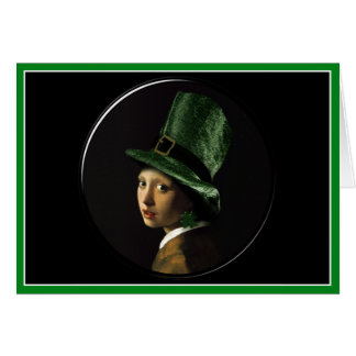 St. Patrick's Day - Girl With The Shamrock Earring Card