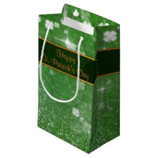 St. Patrick's Day Glitter Clover - Small Gift Bag