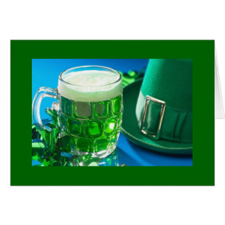 St. Patrick's Day Green Beer Greeting Card