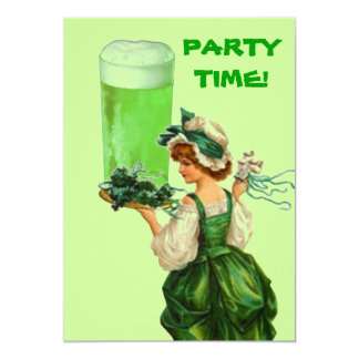 St. Patricks Day Green Beer Party Invitations