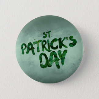 St Patrick's Day Green Clover Irish Celtic 2 Inch Round Button